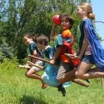 quidditch team flying